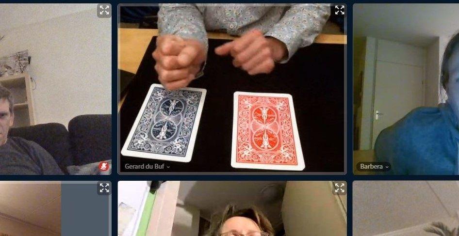 Tafel goochelaar Gerard voor jong en oud